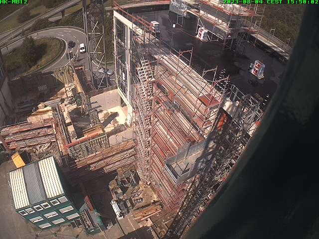 Luftbild vom aktuellen Stand der Arbeiten am Neubau des Küstengymnasiums Neustadt in Holstein (Aktualisierung viermal täglich)
